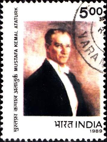 1207 Mustafa Kemal Ataturk [India Stamp 1989]
