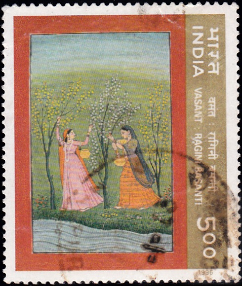 1482 Spring -Ritu-Rang - Miniature Painting [India Stamp 1996]