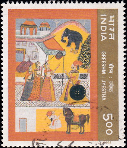 1483 Summer -Ritu-Rang - Miniature Painting [India Stamp 1996]