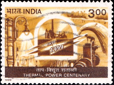 1726 Thermal Power Centenary [India Stamp 1999]