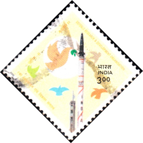 1733 DRDO - Agni II [India Stamp 2000]