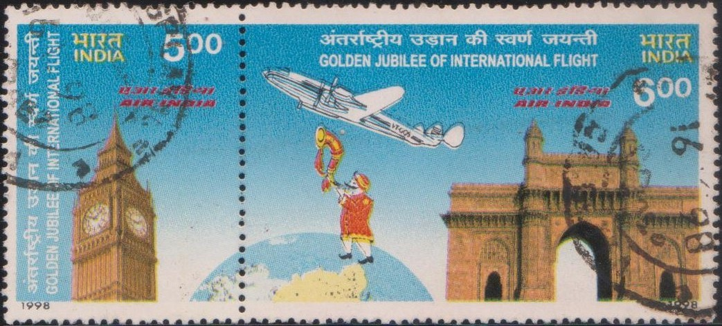 Big Ben, Lockheed Constellation, Maharaja on Globe, Gateway of India