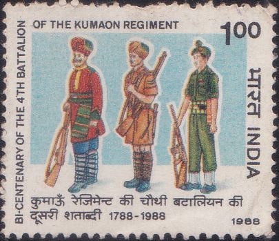 1131 Kumaon Regiment [India Stamp 1988]