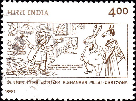 Shankar, an Indian cartoonist