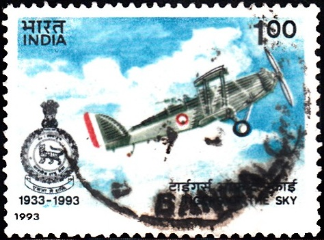 1368 Westland Wapiti Biplane, Indian Air Force [India Stamp 1993]
