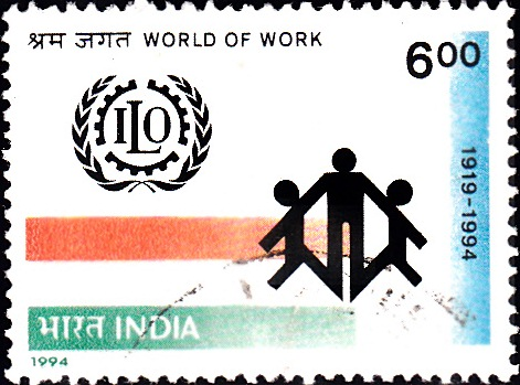 1411 World of Work [India Stamp 1994]