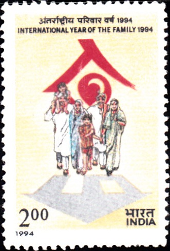 1421 International Year of the Family [India Stamp 1994]