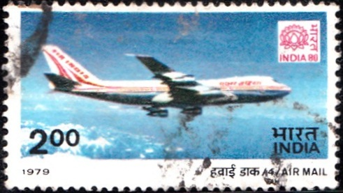 795 Air Mail [India Stamp 1979]