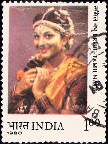 840 Bride-Tamilnadu [India Stamp 1980]