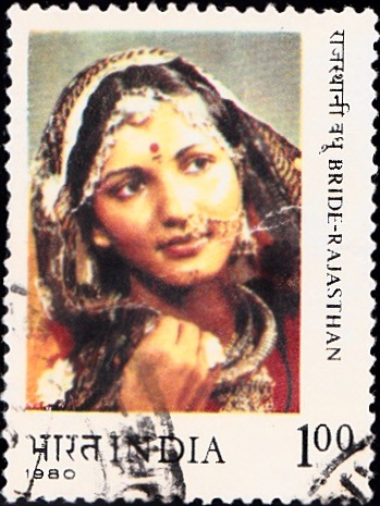 841 Bride-Rajasthan [India Stamp 1980]