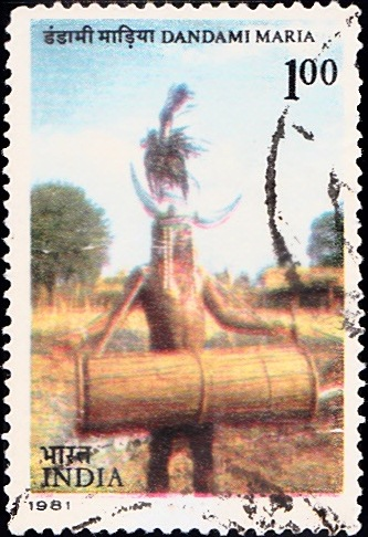 852 Dandami Maria-Tribe [India Stamp 1981]
