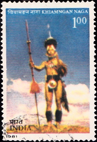854 Khiamngan Naga-Tribe [India Stamp 1981]