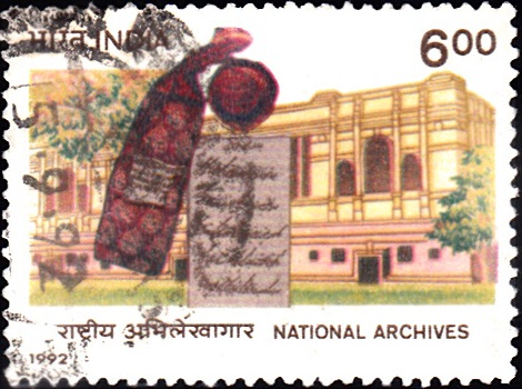 1329 National Archives [India Stamp 1992]
