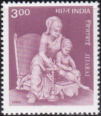 Rajmata Jijai with young Shivaji Maharaj