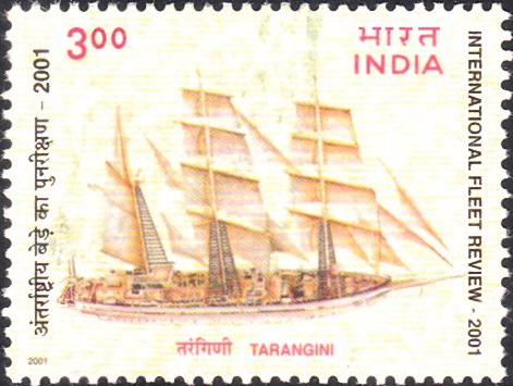 1821 International Fleet Review - Tarangini [India Stamp 2001]