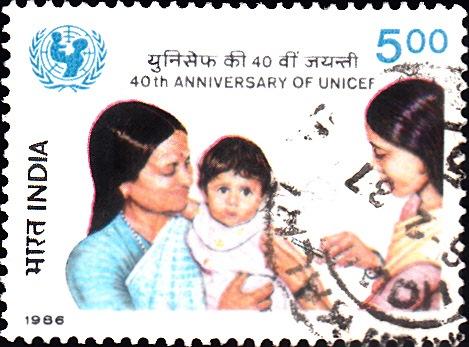 Inoculating a Baby : United Nations International Children's Emergency Fund
