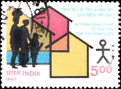 1092 International Year of Shelter for the Homeless [India Stamp 1987]
