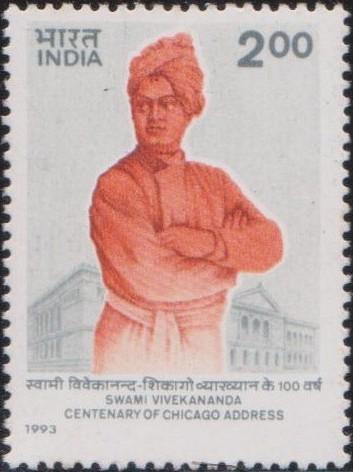Swami Vivekananda and Art Institute Building, Chicago