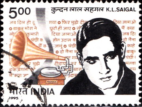 1449 K. L. Saigal [India Stamp 1995]