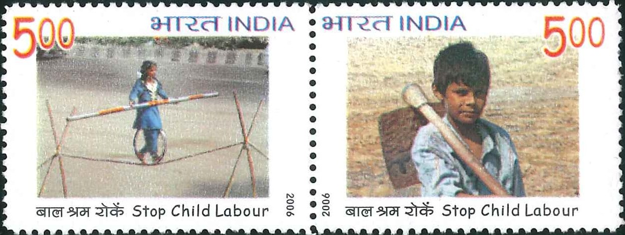 2237-38 Stop Child Labour [India Stamp 2006]