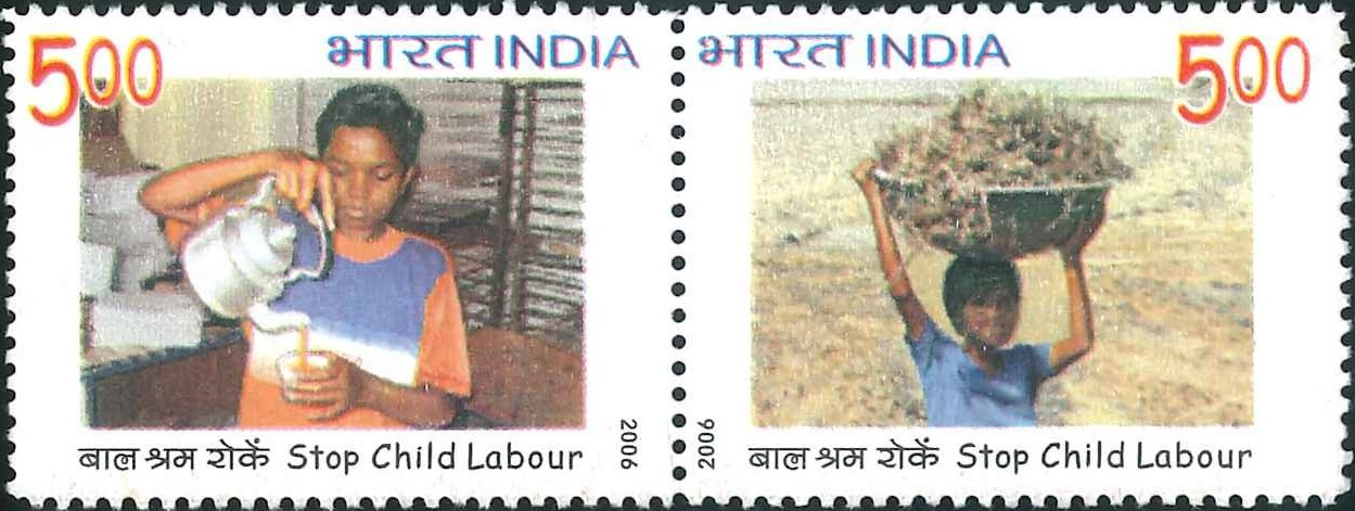 2239-40 Stop Child Labour [India Stamp 2006]