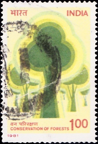 855 Conservation of Forests [India Stamp 1981]