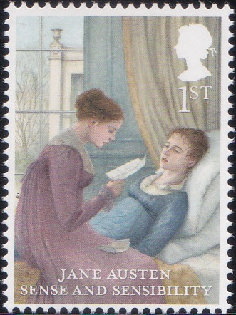 1. Jane Austen - Sense and Sensibility [England Stamp 2013]