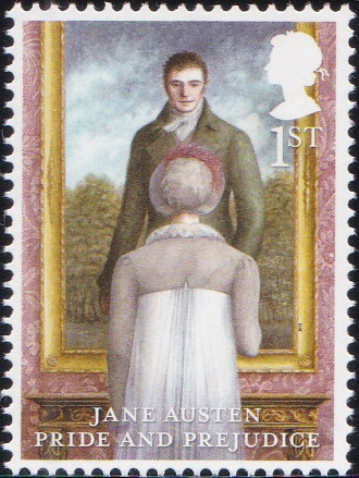 2. Jane Austen - Pride and Prejudice [England Stamp 2013]