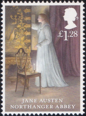5. Jane Austen - Northanger Abbey [England Stamp 2013]