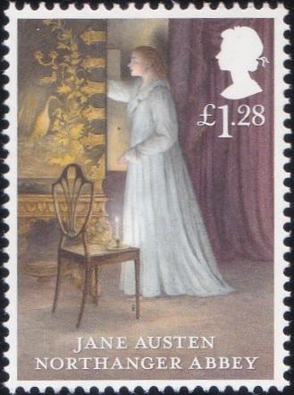 5. Jane Austen - Northanger Abbey [England Stamp 2013]