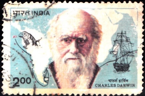 Charles Robert Darwin and Map of Voyage with HMS Beagle