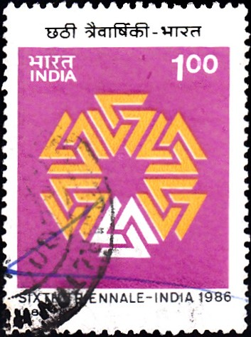 1036-sixth-triennale-india-stamp-1986