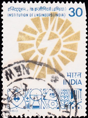 809-institution-of-engineers-india-stamp-1980