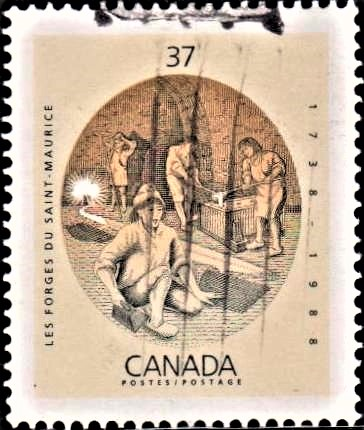 First Successful Iron-working Industry in New France, Canada