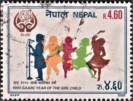 1990 SAARC Year of the Girl Child : Nepalese girls