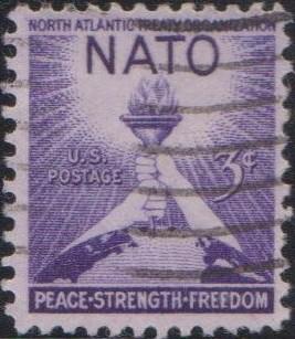 1008 NATO [United States Stamp 1952]