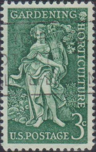 "1100 ""Bountiful Earth"" - Gardening-Horticulture Issue [United States Stamp 1958]"
