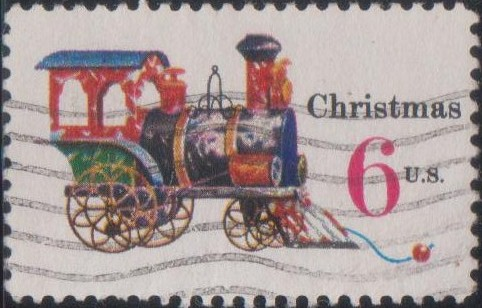 1415 Tin and Cast-iron Locomotive [United States Stamp 1970]
