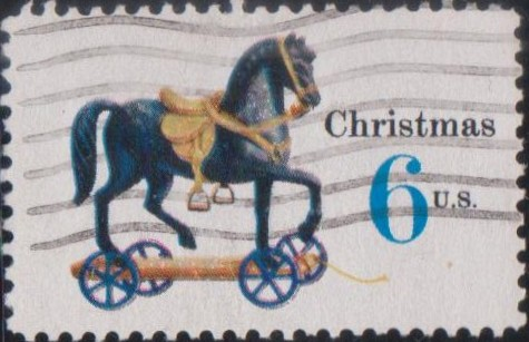 1416 Toy Horse on Wheels [United States Stamp 1970]