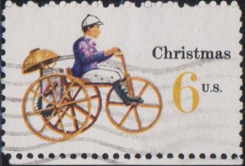 1417 Mechanical Tricycle [United States Stamp 1970]
