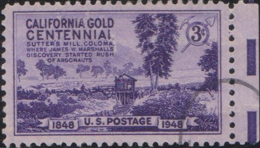 954 California Gold Centennial [United States Stamp 1948]