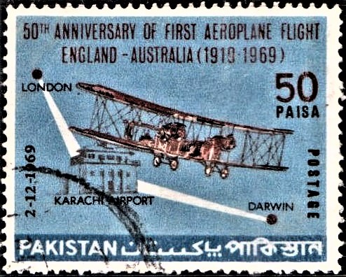 1919 England to Australia flight : Vickers Vimy Bomber