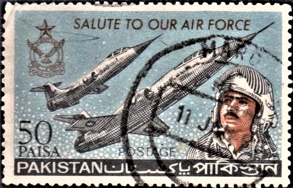 PAF : Air Force Emblem, two F-104 Starfighters and Pilot