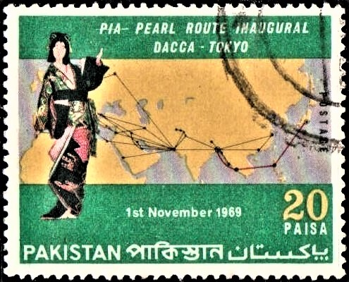 1969 International Flight Route of Pakistan