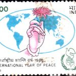 India on International Year of Peace 1986