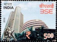 India Stamp 2016, Bombay Stock Exchange