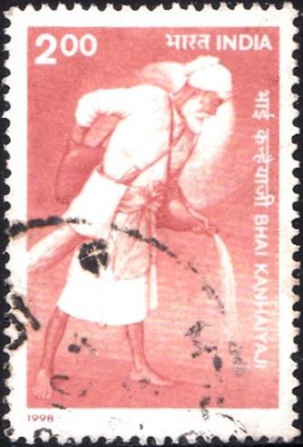 India Stamp 1998, Bhai Kanhaiya Sahib, Sevapanthi, Sewa panthi, Sikh