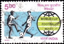 India Stamp 1986 sports games pic