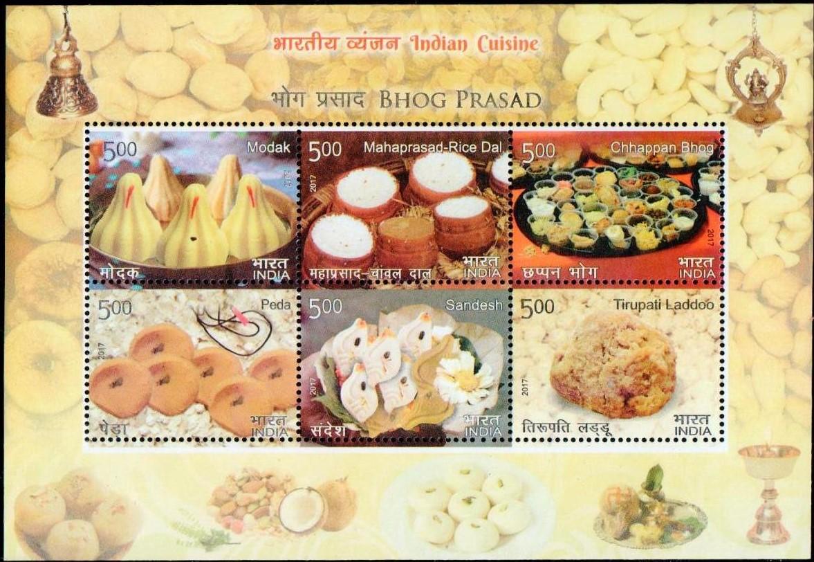 Modak, Mahaprasad-Rice Dal, Chhappan Bhog, Peda, Sandesh, Tirupati Laddoo