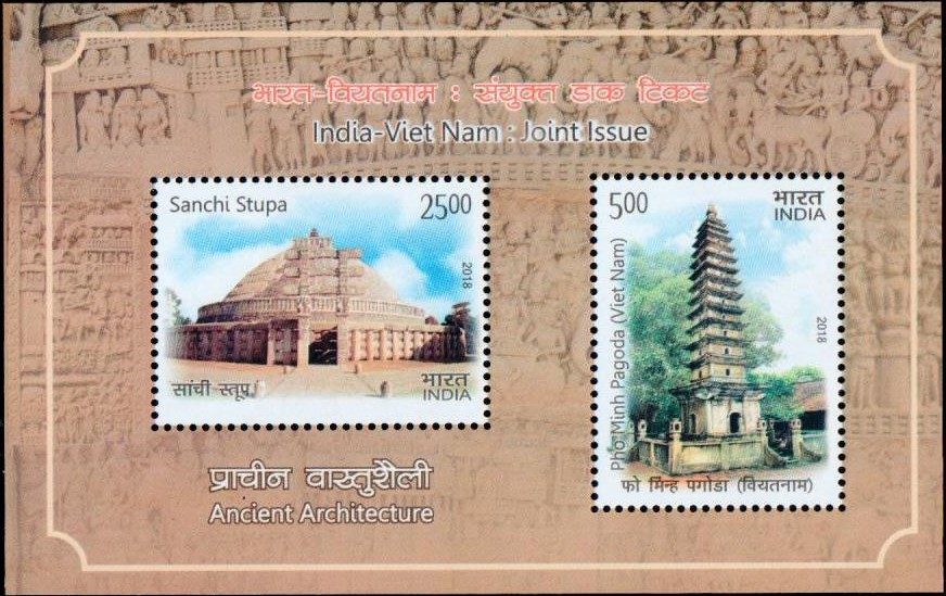 Ancient Architecture : Sanchi Stupa and Pho Minh Pagoda